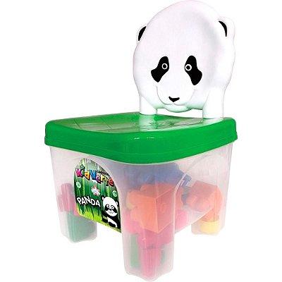 Cadeirinha Panda com Blocos de Montar