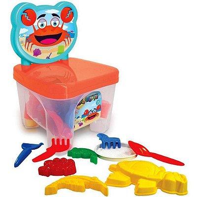 Cadeirinha Caranguejo com Brinquedos de Praia
