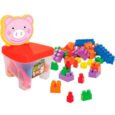 Cadeirinha Pig com Blocos de Montar