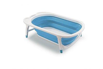 Banheira Dobrável Flexi Bath - Azul