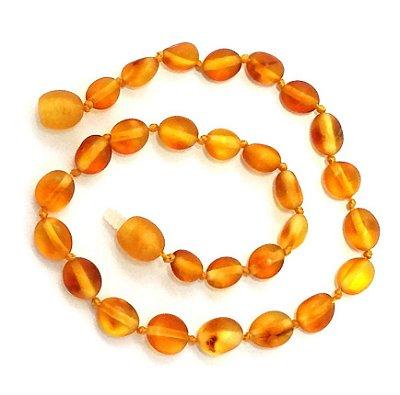 Tornozeleira de âmbar para adulto olive mel não polido - 25cm