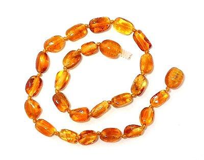 Tornozeleira de âmbar para adulto olive mel polido