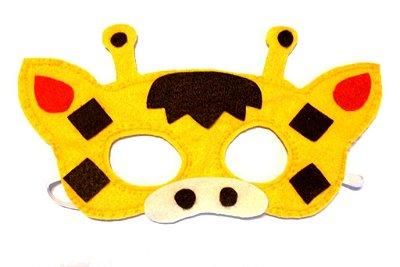 Máscara de Feltro Girafinha
