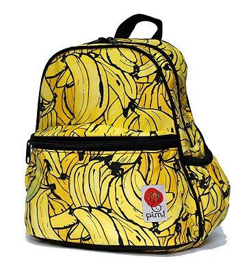 Mochila infantil Bananas com bolso térmico