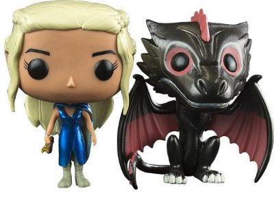 Funko Pop Game of Thrones Daenerys e Drogon Metálico Pack Exclusivo