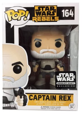 Funko Pop Star Wars Rebels Captain ReX [Smuggler's Bounty] #164