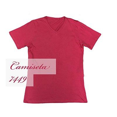 Camiseta 7449 100% algodão gola V