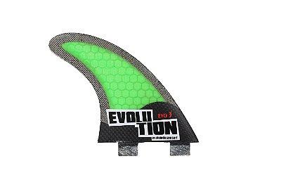 Quilha Modelo Evo Core Carbono - Tamanho Evo 3 - Verde.