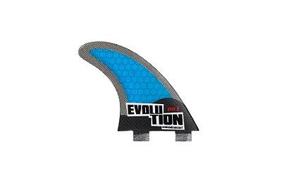 Quilha Modelo Evo Core Carbono - Tamanho Evo 3 - Azul.