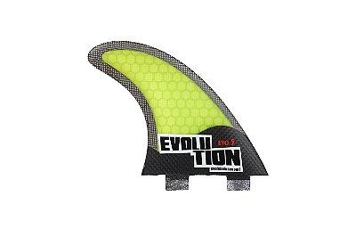 Quilha Modelo Evo Core Carbono - Tamanho Evo 5 - Amarelo.