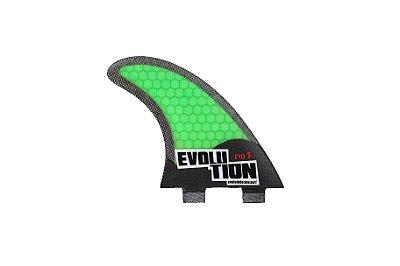 Quilha Modelo Evo Core Carbono - Tamanho Evo 5 - Verde.
