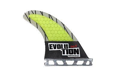 Quilha Modelo Evo Core Carbono - Tamanho Evo 3 - Amarelo - Single Tab.