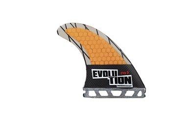 Quilha Modelo Evo Core Carbono - Tamanho Evo 5 - Laranja - Single tab.