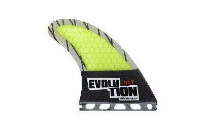 Quilha Modelo Evo Core Carbono - Tamanho Evo 7 -Amarelo - Single tab.