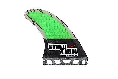 Quilha Modelo Evo Core Carbono - Tamanho Evo 7 -Verde - Single tab.