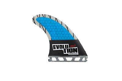 Quilha Modelo Evo Core Carbono - Tamanho Evo 7 -Azul - Single tab.
