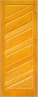 Porta de Madeira Maciça Almofadas Diagonal em Angelim Pedra - ref011
