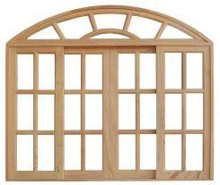 Janela de Madeira Colonial Vidro Quad. em Angelim Pedra - ref093