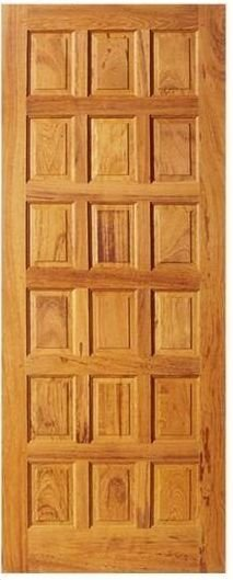 Porta de Madeira Maciça em Angelim Pedra - ref09