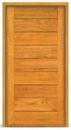 Porta Pivotante de Madeira Maciça em Angelim Pedra - ref157