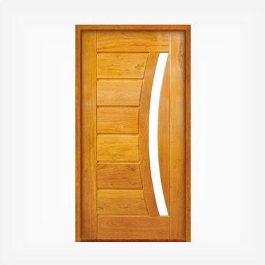 Porta Pivotante de Madeira Maciça em Angelim Pedra - ref161