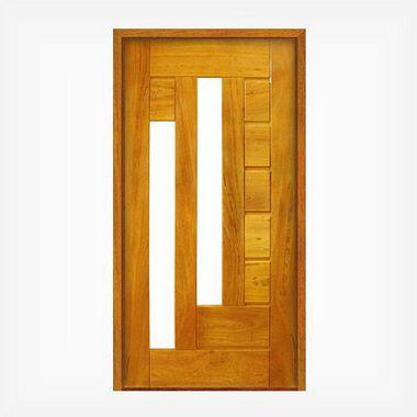 Porta Pivotante de Madeira Maciça em Angelim Pedra - ref152