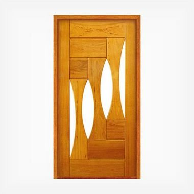 Porta Pivotante de Madeira Maciça em Angelim Pedra - ref159