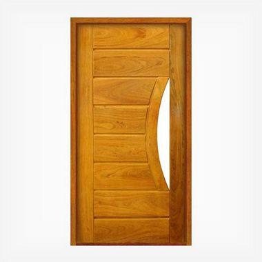 Porta Pivotante de Madeira Maciça em Angelim Pedra - ref160