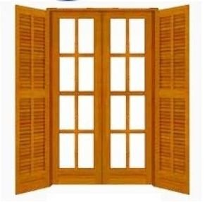 Porta Balcão VV/AA ref026 Angelim Pedra