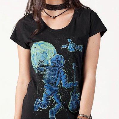 Camiseta fem Astronauta