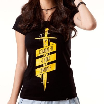 Camiseta feminina Bom Combate