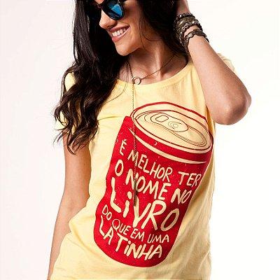 Camiseta feminina - Latinha