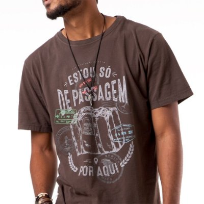 Camiseta masculina Viajante