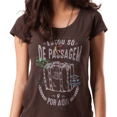 Camiseta feminina Viajante