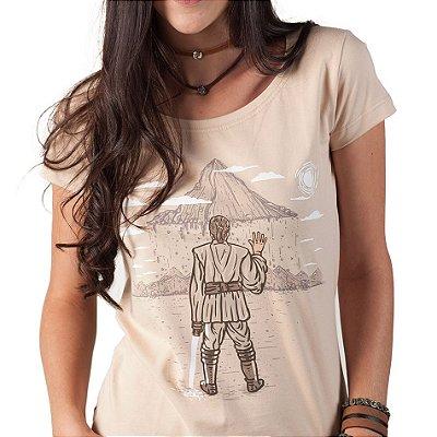 Camiseta fem Star Wars - A Força da Fé