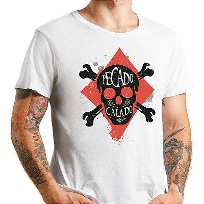 Camiseta masc. Pecado Calado