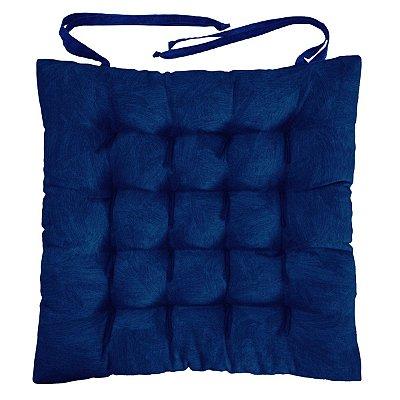 Almofada Assento Futton Alasca 40x40cm - Azul