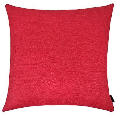 Capa de Almofada Rustica Lisa 40x40cm Vermelha