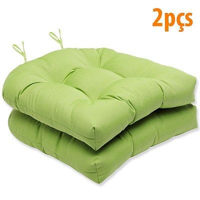 Almofada Para Assento Futton Solid 40x40cm Oliva 2Pçs