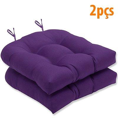 Almofada Para Assento Futton Solid 40x40cm Roxo 2Pçs