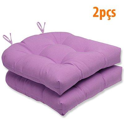 Almofada Para Assento Futton Solid 40x40cm Lilas 2Pçs