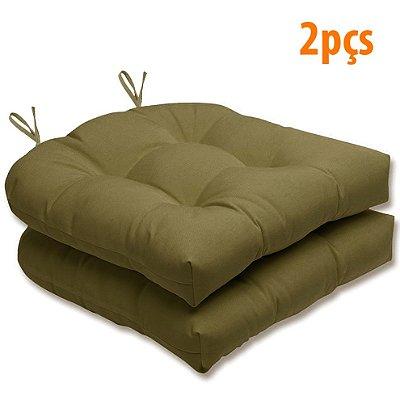 Almofada Para Assento Futton Solid 40x40cm Green 2Pçs