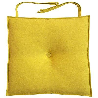 Almofada Para Assento de Cadeira 40x40cm Moond - Amarelo