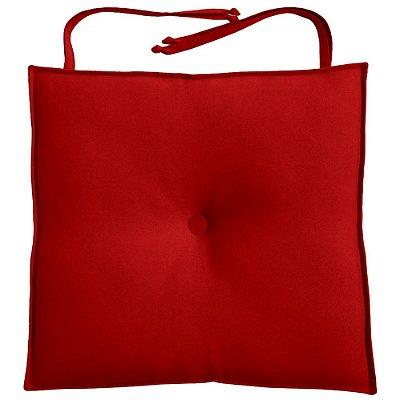 Almofada Para Assento de Cadeira 40x40cm Moond - Vermelho
