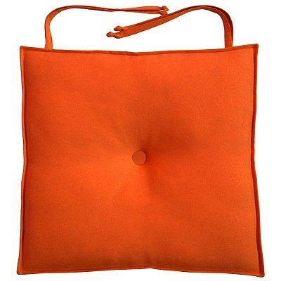 Almofada Para Assento de Cadeira 40x40cm Moond - Laranja