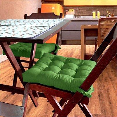 Assento Para Cadeira Futton Ox 40x40cm Verde