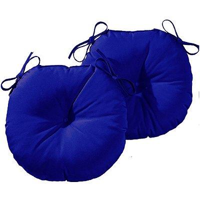 Almofada Para Assento Redondo One Ø40cm - Azul Royal 2 Peças