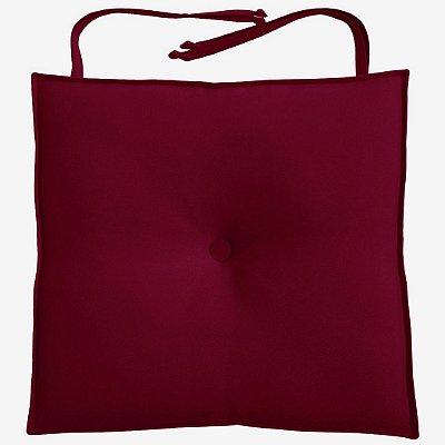 Almofada Para Assento de Cadeira 40x40cm Moond - Vinho