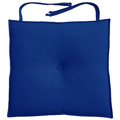 Almofada Para Assento de Cadeira 40x40cm Moond - Azul Royal