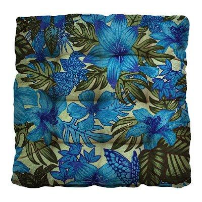 Almofada Futton Tropical 40x40cm - Azul